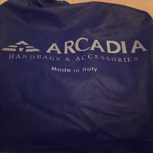 Red Arcadia Patent Leather Handbag